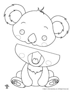 Koala Color & Cut Puppet Craft Project for Kids