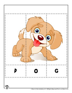 Dog Printable Puzzle for Kids