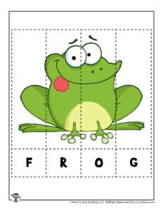 Printable Animal Word Puzzle Game