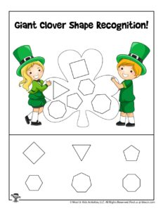 PreK Cut and Paste Shapes Activity Page