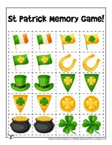 St. Patrick's Day Preschool Memory Game
