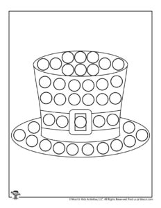 St Patricks Hat Do a Dot Art Coloring Page