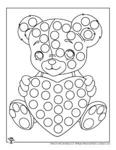 Valentine Do A Dot Preschool Printable