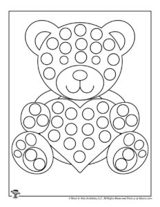Valentine Dot Coloring Pages Woo Jr Kids Activities
