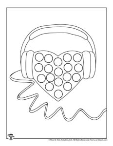 Valentine Do a Dot Art Coloring Page