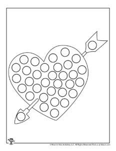 Valentine Heart Do a Dot Printables Free Preschool