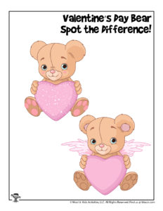 Valentine's Bear Find the Differences