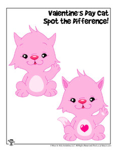 Valentine's Day Easy Spot the Difference Activity