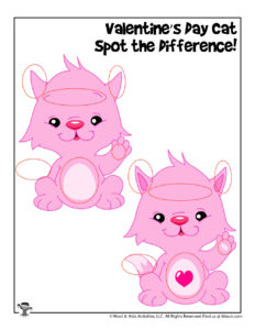 Easy Spot the Difference Game - ANSWER KEY