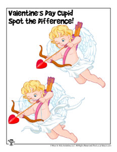 Difficult Valentine's Day Find the Difference Activities