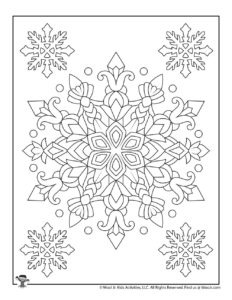 Intricate Snowflake Printable Coloring Page