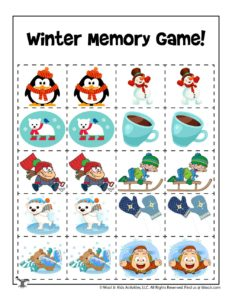 Printable Cut & Paste Memory Game for Kids