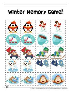Printable Cut & Paste Memory Game for Kids