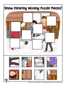 Missing Puzzle Piece Pre-K Worksheets