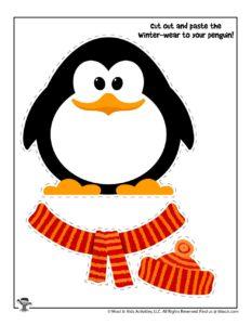 Winter Cut & Paste Penguin Activity Page