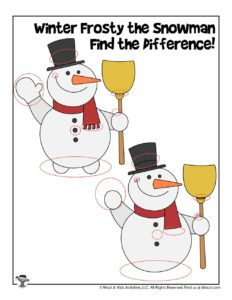Frosty the Snowman Compare the Differences - KEY