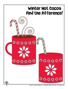 Hot Cocoa Winter Spot the Difference Activity Printable