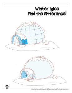 Igloo Preschool Puzzle Activity Game - KEY