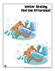 Can You Spot the Difference Preschool Activity Page - KEY
