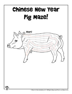 Printable Chinese New Year Preschool Worksheet - KEY