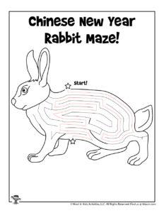 Find Your Way Through Zodiac Rabbit Maze - KEY