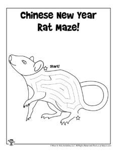 Zodiac Rat Activity Worksheet for Kids