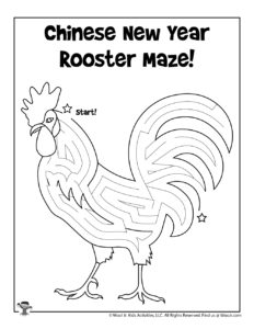 Chinese New Year Printable Maze for Kids
