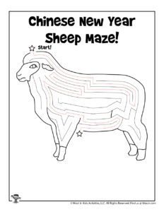 Chinese New Year Free Coloring Activity for Kids - KEY