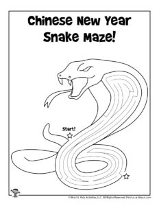 Printable Chinese Zodiac Activity Page for Kids