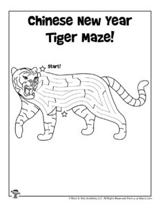 Chinese Zodiac Symbol Tiger Maze