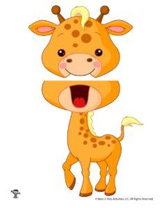 Giraffe Paper Puppet Printable Template