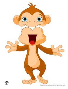 Monkey Zoo Animal Paper Puppet Design