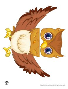 Owl Free Printable Puppet Template