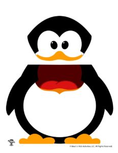 Penguin Puppet Printable Paper Craft for Kids