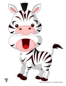 Printable Zebra Zoo Animal Puppet