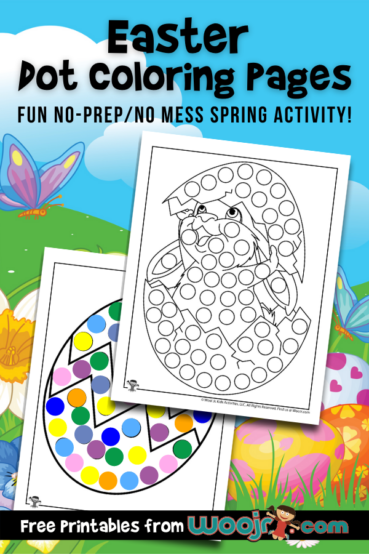 Easter Dot Coloring Pages