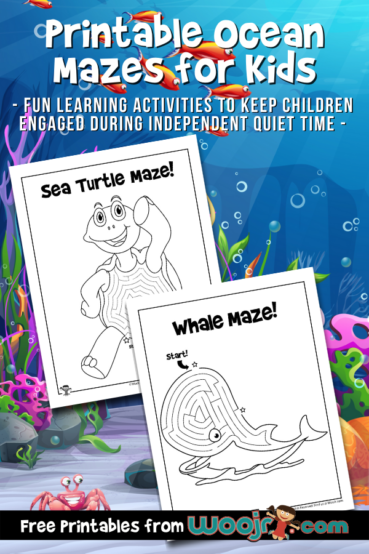 Printable Ocean Mazes for Kids