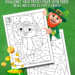 St. Patrick's Color by Number Pages