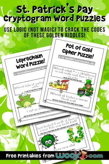 St. Patrick's Cryptogram Word Puzzles