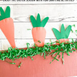 Easter Carrot Art Project from Construction Paper