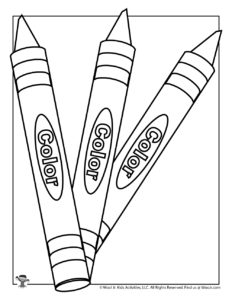 Crayon Coloring Page for Kids