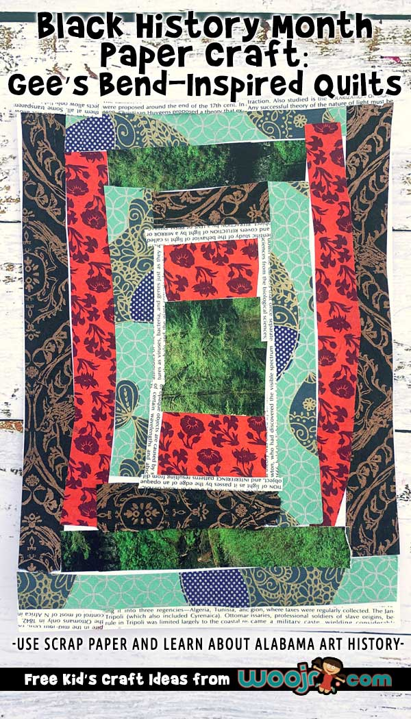 Black History Month Paper Craft: Gee's Bend-Inspired Quilts