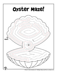 Ocean Oyster Maze Worksheet - KEY
