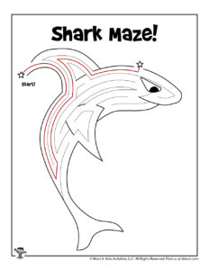Shark Ocean Classroom Activity Worksheet - KEY