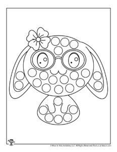 Bunny Free Printable Dot Coloring Page