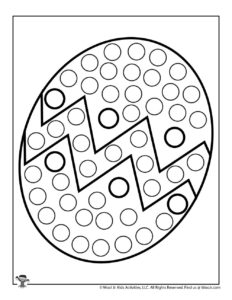 Easter Egg Dot Marker Activity Page