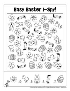 I Spy Activity Easter Game - ANSWER KEY