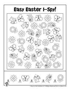 Free Printable Easter Find the Object - KEY