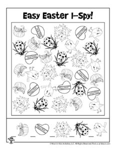 Easy Easter I Spy Game for Kids