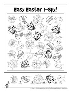 Easy Easter I Spy Game - KEY